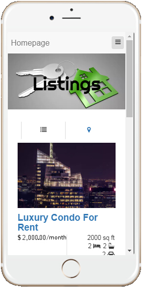 Mobile Real Estate Website Example